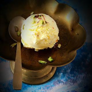 Kesar Pista Ice Cream.