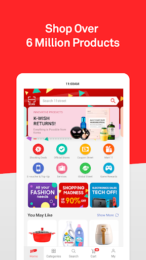 11street - Shopping & Deals | Coupon For New Users 5.0.6 screenshots 1