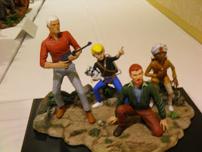 Photo: The Johnny Quest figures built up.  I have wanted these kits for a long time.