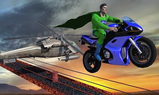 Crazy Green Hero: Impossible Bike Tricky Stunts - náhled