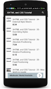 XHTML and CSS Tutorial - náhled