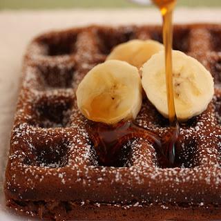 Banana Brownie Waffles