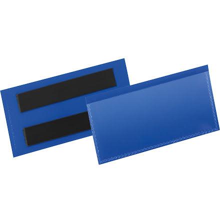 Etiketthåll. mag. 100x38mm blå