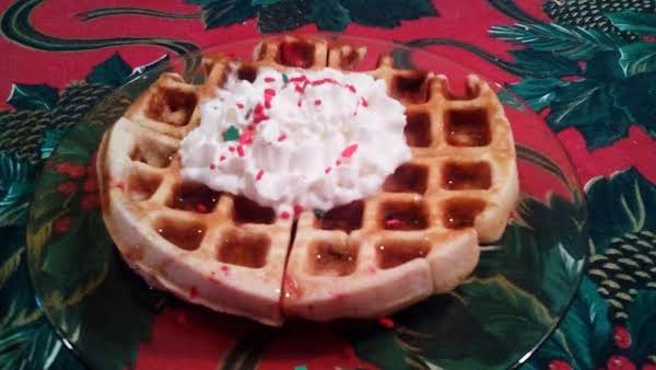 Christmas Morning Rum Raisin Belgian Waffles Recipe