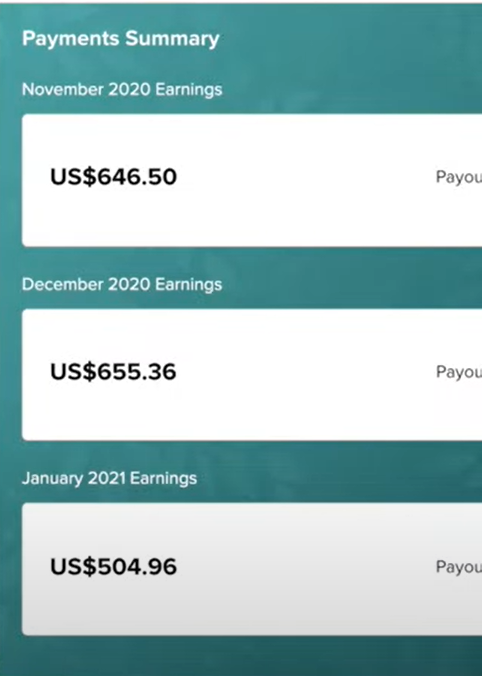 Passive income earnings