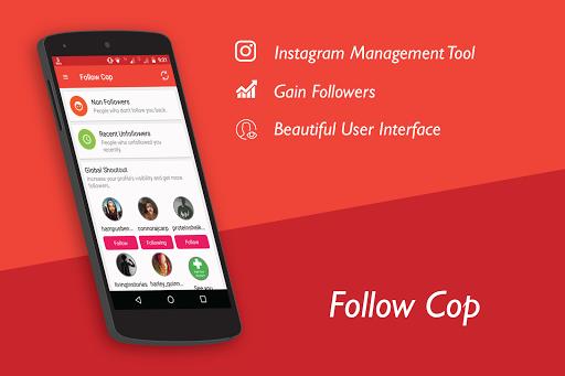 Unfollowers for Instagram, Follow Cop 4.5.1 screenshots 1