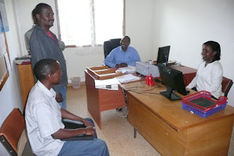 Photo: The office of the SRI Resource Center which opened on July 12, 2010, at  MIAD in Mwea Irrigation Scheme in Kirinyaga District, Central Province [Photo Courtesy of Bancy Mati]