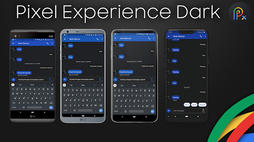 Download Pixel Experience Theme Dark for LG G7 on PC & Mac with
