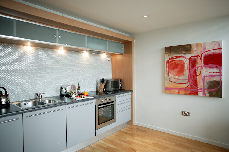 Fully equipped kitchen at Brindley Place