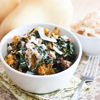Butternut Squash, Kale & Ground Beef Breakfast Bowl.