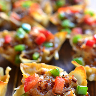 Southwest Chicken Wonton Cups.