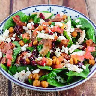 Mediterranean Chicken Bacon Spinach Salad.