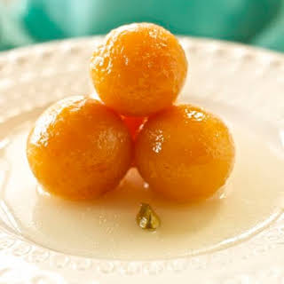 Gulab Jamun ~ Indian Donuts in Cardamom Syrup.