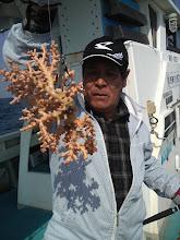 Photo: 引くわけないか。 だってサンゴだもん! 魚を釣ろー!