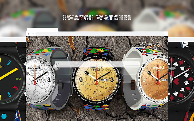 Swatch Watches HD Wallpapers New Tab