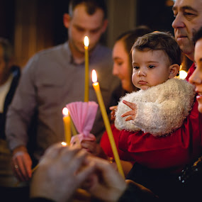 Christening by Plamen Stanchev - People Family ( family, christ, baby girl, reunion, christening )
