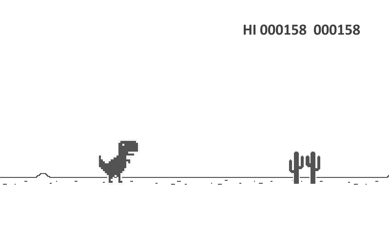 how to get google dinosaur game