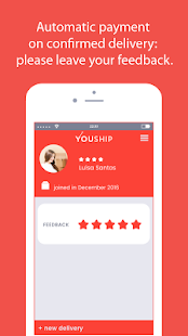 YOUSHIP - Delivery on demand- screenshot thumbnail