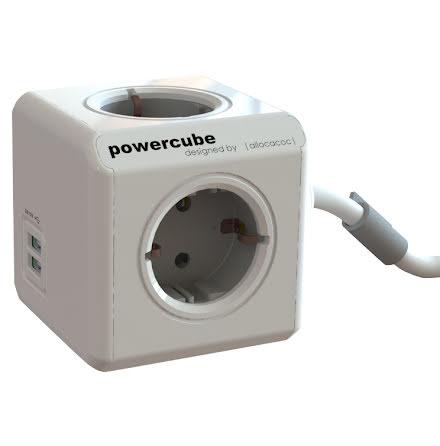 Grenuttag Powercube 4+USB 1,5m