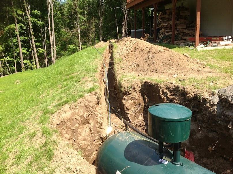 Budowa instalacji zbiornikowej na działce