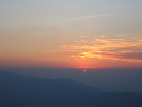 Photo: Kulp, Belmazar pass, sunset over Ferghana valley