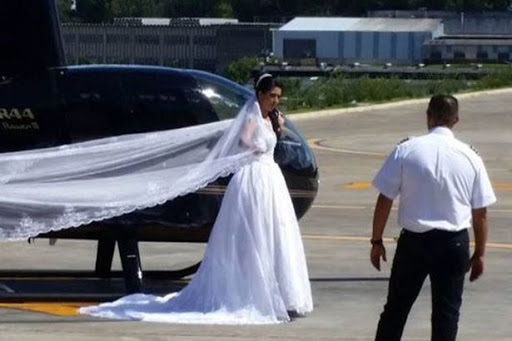Graphic video: last moments of bride's life in helicopter