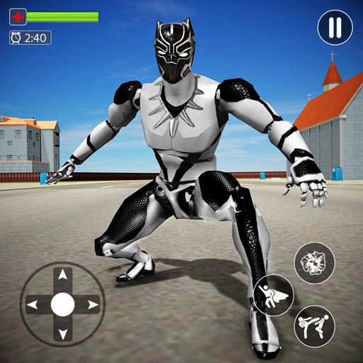 Pantera voadora herói herói cidade crime lutador