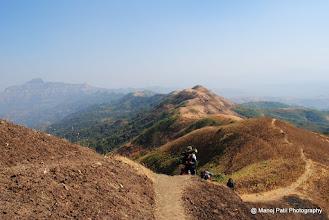 Photo: On the ridge ....And ridge goes back till Rajgad