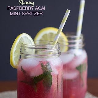 Skinny Raspberry Acai Mint Spritzer
