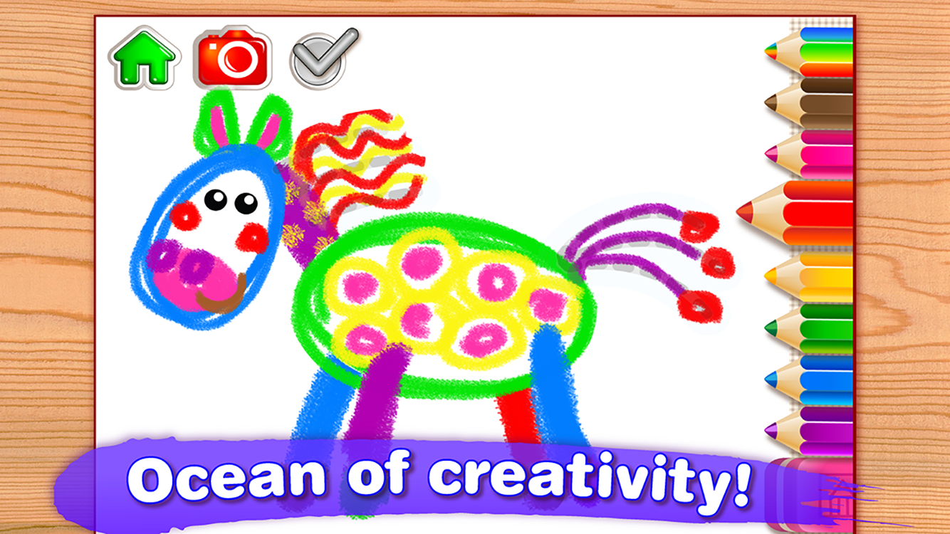 Drawing for kids coloring children games toddlers for Online drawing app