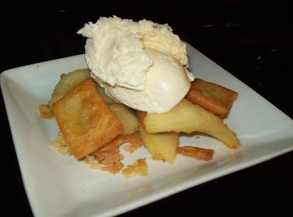 Apple Cheat With Pie Chips Ala Mode