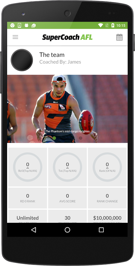 SuperCoach AFL (classic)- screenshot