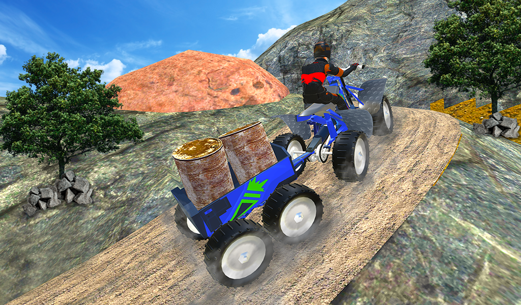 Quad ATV Rider: Extreme Off-Road Cargo Transport- screenshot