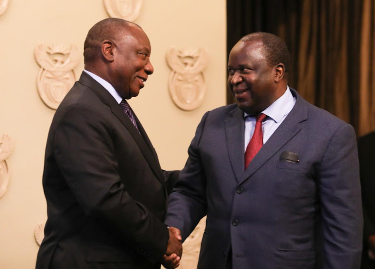 President Cyril Ramaphosa welcomes Tito Mboweni to cabinet.