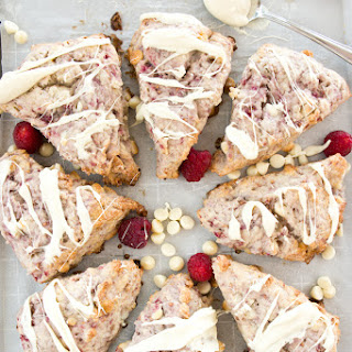 Raspberry Ricotta White Chocolate Scones
