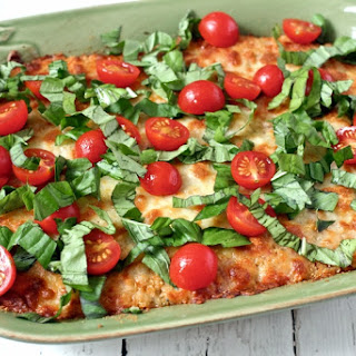 Baked quinoa Caprese casserole