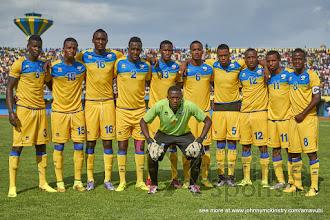 Photo: Rwanda Team [Rwanda v Mauritius, AFCON 2017 Qualifier, 29 March 2016 in Kigali, Rwanda.  Photo © Darren McKinstry 2016, www.XtraTimeSports.net]