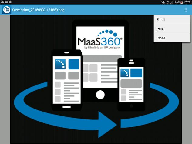 MaaS360 Secure Viewer Screenshot