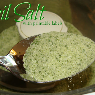 Basil Salt with Printable Label.