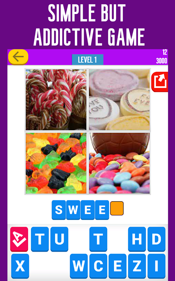 Guess the Word: 4 Pics Quiz - screenshot