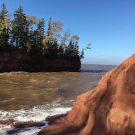 High Tide at Burntcoat Head by Danny Osborne - Instagram & Mobile Other ( canada, burntcoathead, bayoffundy, tides, novascotia )