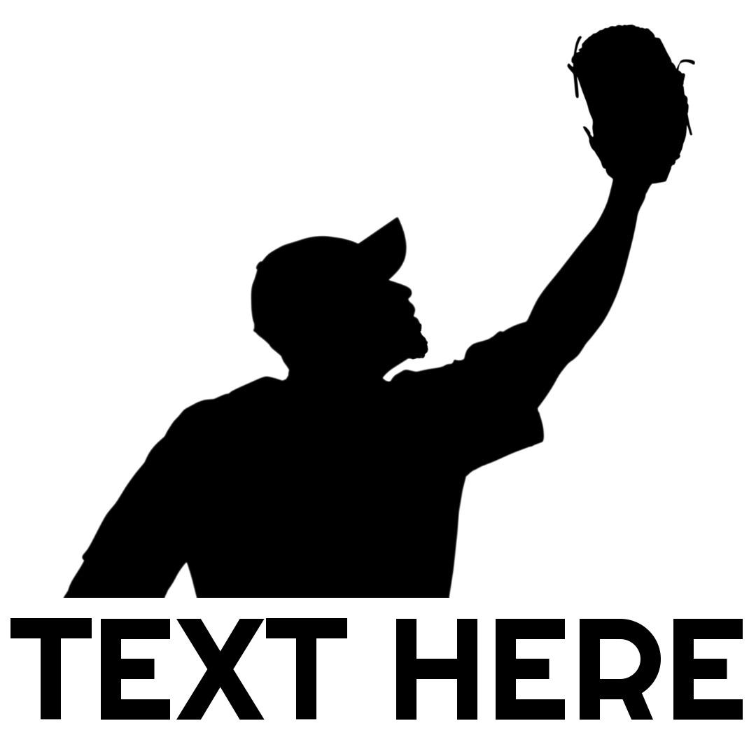 baseball logo glove