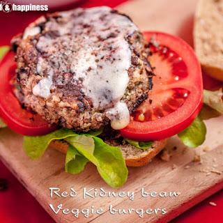 Red Kidney Bean Veggie Burgers.