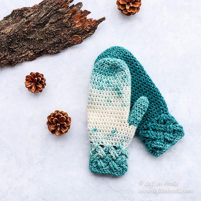 crochet Christmas gift idea - mittens