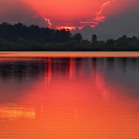 by Natalie Zvonar - Landscapes Sunsets & Sunrises ( red, nature,  )
