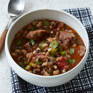 Black-Eyed Pea Stew with Sausage.