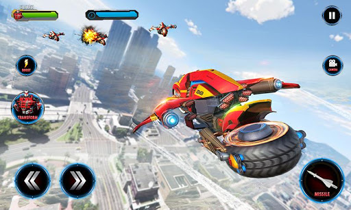 Real Flying Robot Bike : Robot Shooting Games 2.1 screenshots 3