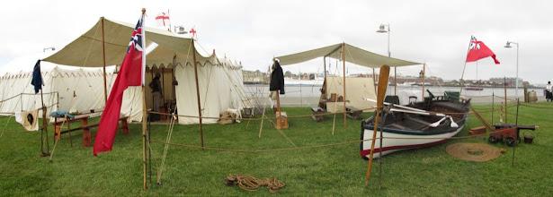 Photo: The Royal Navy encampment