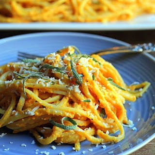 Linguine with Butternut Squash Sauce.