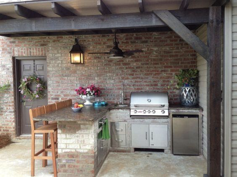 Inspirasi desain dapur terbuka – source: pinterest.com